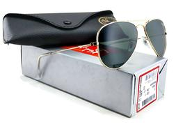 Ray-Ban 0RB3044 Aviator Sunglasses,Gunmetal Frame/Green Lens