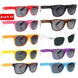 10 PACK Bulk Wholesale Sunglasses Retro Party Favor Classic