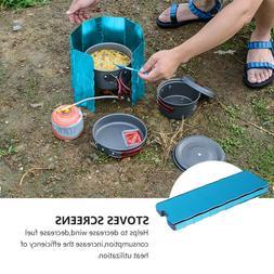 10pcs Windshield Stove Windshield Kitchen Accessory Portable