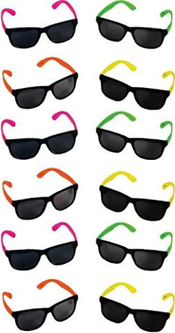 New 12 Neon Tween Teen Kids Party Favor Birthday Retro 80's