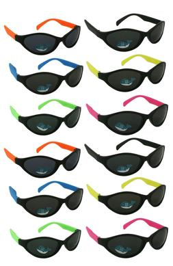 12 Pack Neon Sport Sunglasses w/CPSIA certified-Lead Content