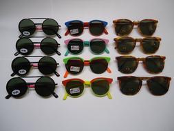 Retro Style SUNGLASSES for CHILDREN wholesale lot 100% UV P