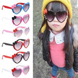 1PC Baby Kids  Boys Girls Love Heart Goggles Sunglasses Bowk