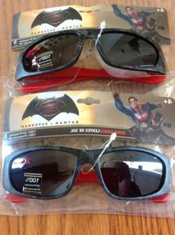 2- Batman Superman Boys Sunglasses 100% UV Protection Superh