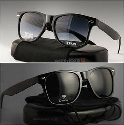 2 MEN Sunglasses square wayfare Super dark black lens & regu