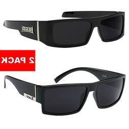 2 Pack MEN Dark Lens Gangster BLACK OG Sunglasses Cholo LOCS