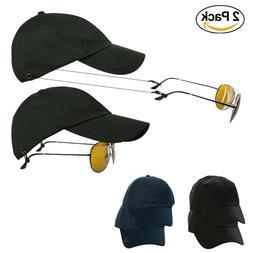 Men Women Baseball Cap with Sunglasses Straps Summer Hat, B