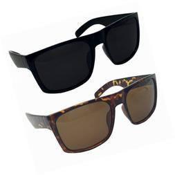 2 Pack XL Polarized Men's Big Wide Frame Sunglasses - Large