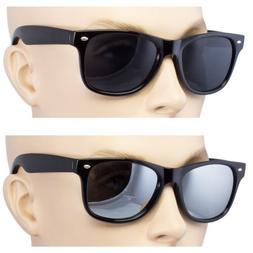 2 Pair Men Women Sunglasses Style Black Frame Dark Lens Mirr