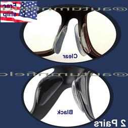2 pairs Anti-slip silicone Stick On Nose Pads For Eyeglasses