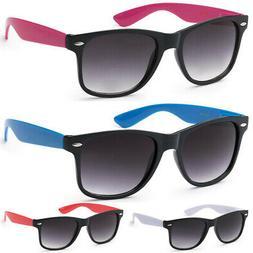 Retro Rewind 2-Tone Men Women Vintage 80s Fashion Sunglasses