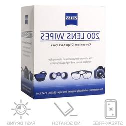 200CT ZEISS Lens Cleaning Wipes Eye Glasses Screen Optical C