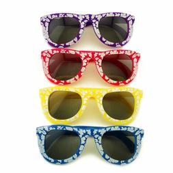 24pk KIDS Hawaiian Flower Sunglasses Props Beach Summer Part