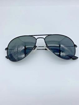 Luenx 2610 Aviator Sunglasses Black 60-15-142 Designer Sungl