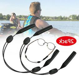 2Pcs Adjustable No Tail Eyeglasses Sunglasses Holder Strap C
