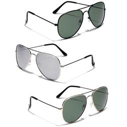 3 PACK Polarized Retro Vintage 80s Aviator Sunglasses Men Wo