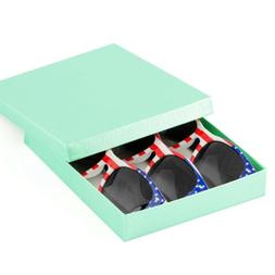 3-Pack USA American Flag Classic Sunglasses Gift Box party f