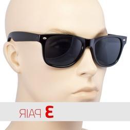 3 PAIR MEN WOMEN Sunglasses  Style Black Frame 100% UV Dark