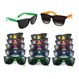 36pk BULK Colorful Neon Assorted Kids Sunglasses 80s Theme P