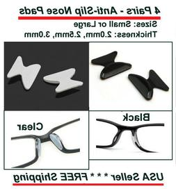 4 Pairs Anti-slip Silicone Stick On Nose Pads For Eyeglasses