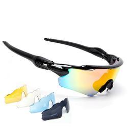 5 Lenses Polarized Cycling Glasses Men Women MTB Bike Sports
