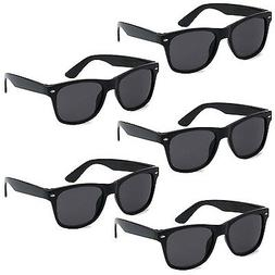 5 PAIR LOT Black Sunglasses Wholesale Small Medium Large Bul