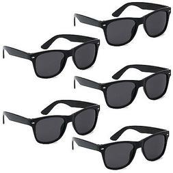 5 PAIR LOT Black Sunglasses Wholesale Small Medium Large Bul