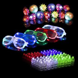 LED Glow Party Favors for Kids and Adults – 50pk Light Up