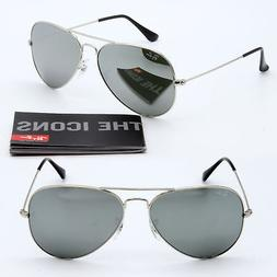 62mm ray-ban aviator new sunglasses for men and women silver