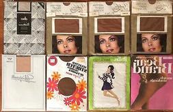 8 Pairs Vintage mixed Lot Nylon Stockings Size 10.5-11 Large