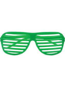 80's Neon Green Shutter Shade Toy Sunglasses Party Favors Co