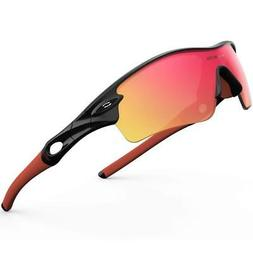 RIVBOS 805 POLARIZED SPORT SUNGLASSES W/5 SETS OF INTERCHANG