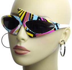 80s Party New Wave Purdy Retro Asymmetrical Sunglasses Rappe