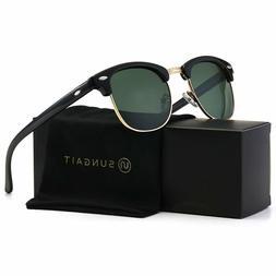 Sungait 80S Sunglasses Retro Semi Rimless For Men Women New