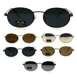 90s Retro Oval Round Metal Rim OG Sunglasses