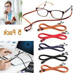 Adjustable Sunglasses Neck PU Cord Strap Eyeglass Glasses St