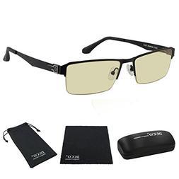 Duco Semi-rimless Ergonomic Advanced Computer Gaming Glasses
