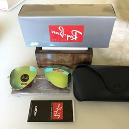 Ray-Ban RB 3025 112/69 Matte Gold w/ Red Mirror Lens Aviator