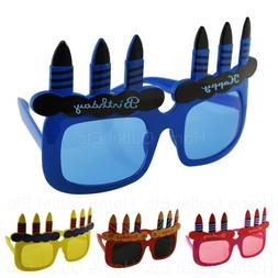 Adult Happy Birthday Candles Sunglasses Novelty Funny Costum