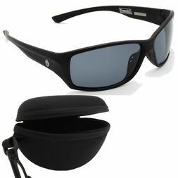 Coleman Adventurer Matte Black Full Frame w/Smoke Sunglasses