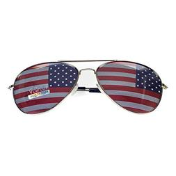 Goson American Flag Mirror Aviator Novelty Decorative Sungla