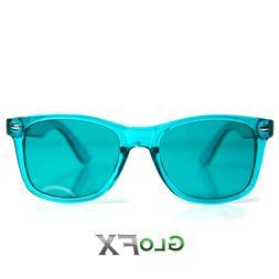 GloFX Aqua Color Therapy Glasses Tinted Lenses Sunglasses wi