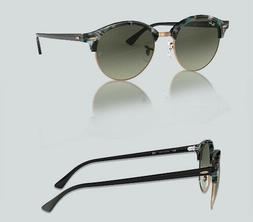 Authentic Ray Ban 0RB 4246 F CLUBROUND 125571 SPOTTED GREY/G