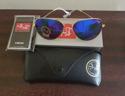 Authentic RAY-BAN Aviator RB3025 | Blue Mirror Flash 58mm G1