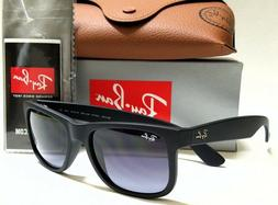 Authentic RAY-BAN JUSTIN RB4165 601/8G Rubber Black/Grey Gra