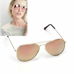 Aviator Frame Rose Gold Mirror Oversized Lens Sunglasses Hot
