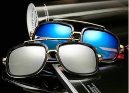 aviator oversize square designer flat top gold
