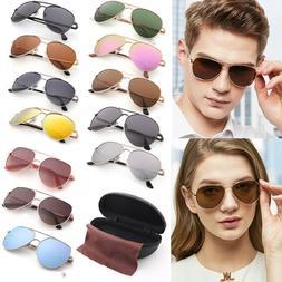 Aviator Polarized Sunglasses For Women Men Girls Boys Mirror