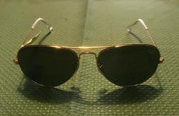 Ray-Ban Aviator Polarized Sunglasses RB3025 001/58 58mm Gold