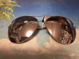 Extra Large oversized Aviator Sunglasses Mirror Lenses Silve